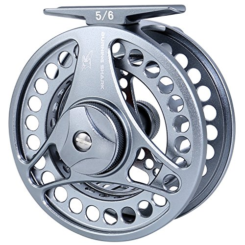 Burning Shark Fly Fishing Reel,2+1 BB Light Weight Space Aluminum Waterproof Fly Reels,5/6 WT ()
