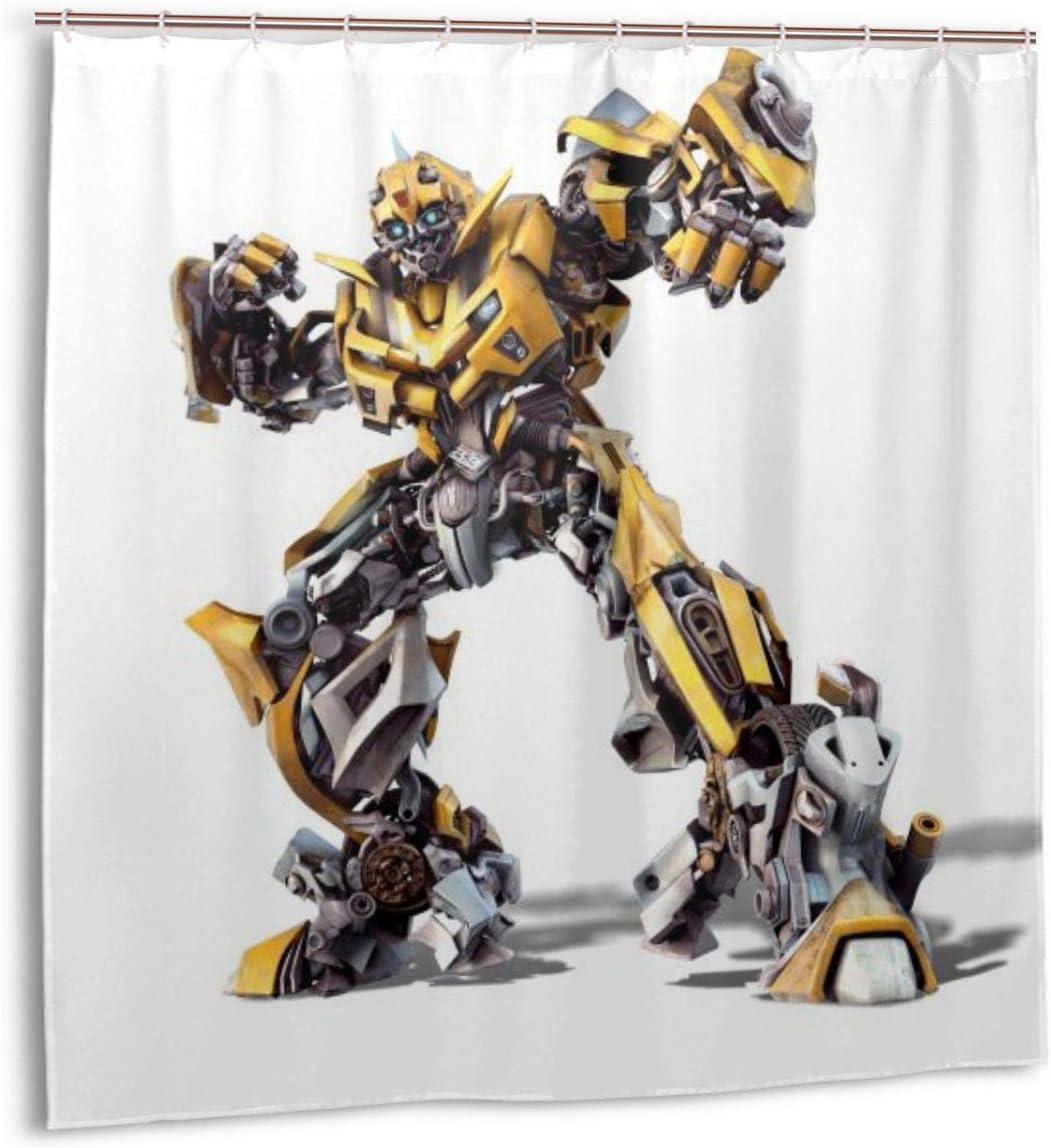 Transformers Bumblebee Custom Waterproof Shower Curtain Bathroom Decor Hooks