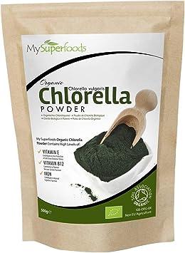 MySuperFoods Polvo de Clorella Orgánica 500g, Fuente Natural de Proteína