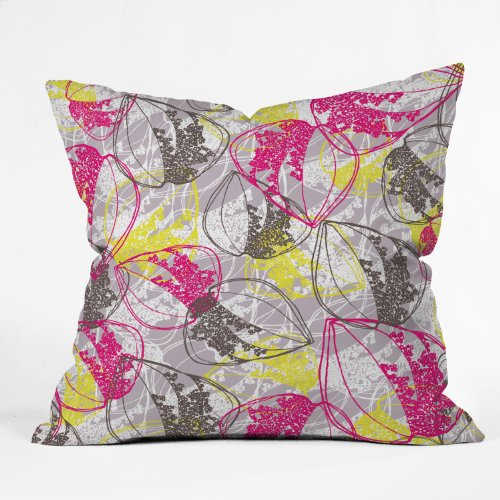 Deny Designs Rachael Taylor Organic Retro Leaves Throw Pillow, 18 x - Taylor Retro Leaves Organic