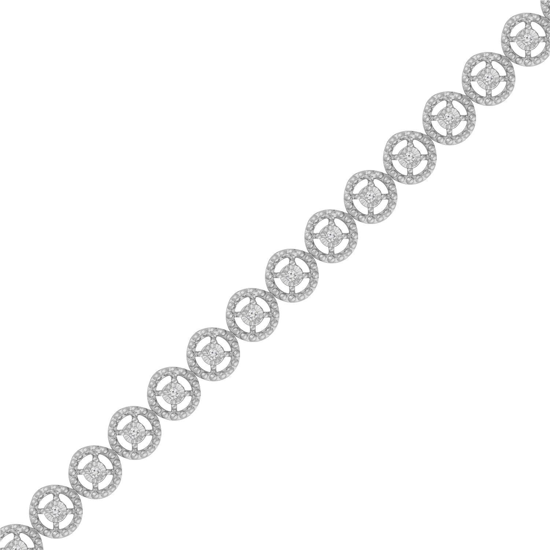 Sterling Silver Rose-Cut Diamond Eternity Wheel Bracelet (0.50 cttw, I-J Color, I3 Clarity) by Original Classics (Image #4)