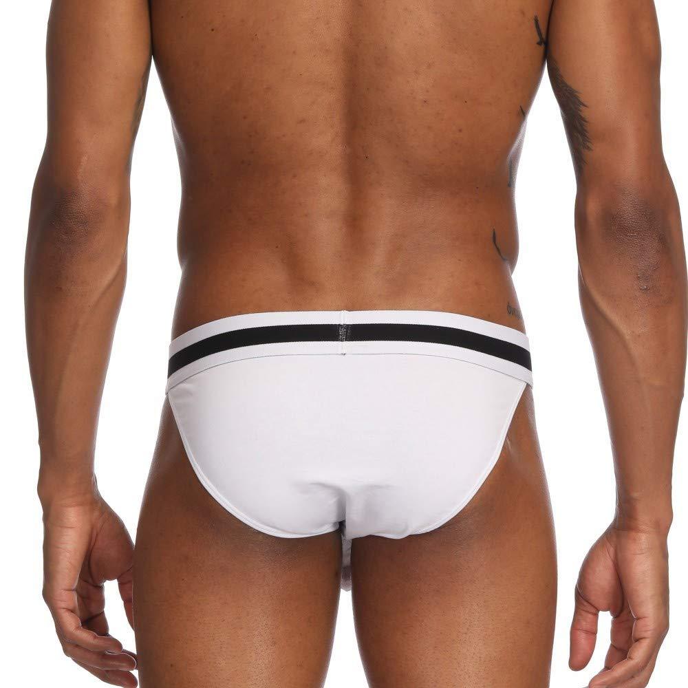 FRAUIT Herren Soft Unterw/äsche Slip Baumwolle Boxer Shorts Briefs Unterhosen mit Eingriff und Weichbund M-XXL