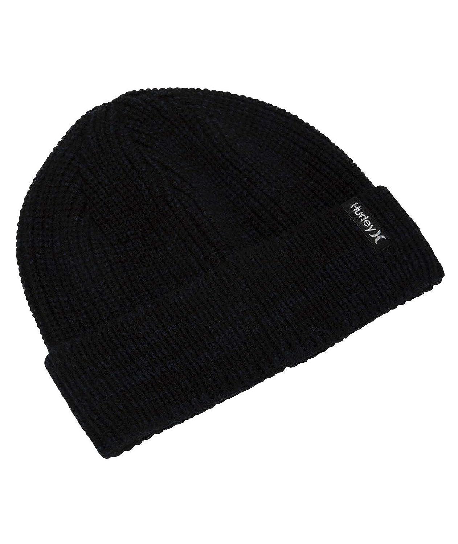 Hurley Mens Stretch Knit Cuffed Slouchy Winter Beanie