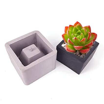 Amazon.com: Concrete Flower Pot Molds Geometric Shape Combined Succulent Planter Silicone Mold DIY Handmade Tools Set
