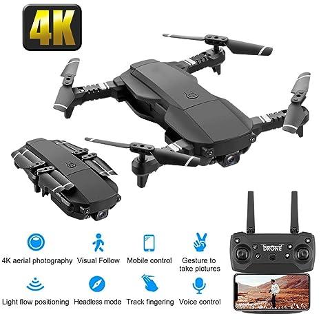 Drone con cámara 4K HD, RC Quadcopter RTF Altitude Hold, Avión con ...