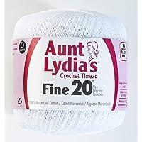 Coats Crochet Tía Lydia Ganchillo, algodón Fino tamaño 20, Color Blanco, Blanco, 20, 1