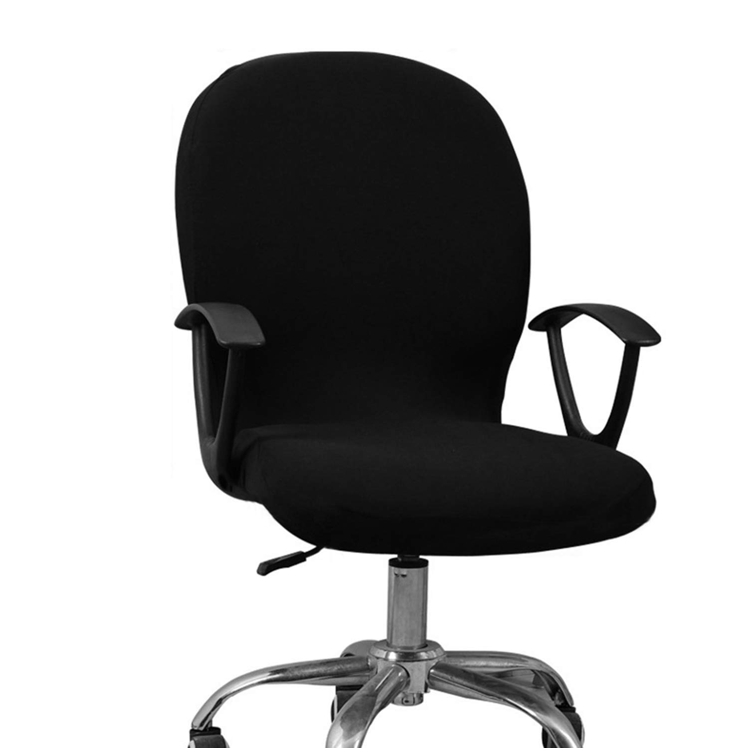 Office Computer Chair Cover Stretch Rotating Lift Chair Swivel Chair Cover Black