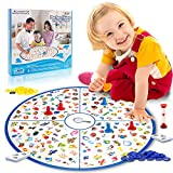 LUKAT Board Game, Matching Game Large Board Fast Memory Game Kids Toys for Girls and Boys (Physicals, Alphabet, Letter, Number) Early Educational Preschool Learning
