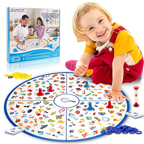 Heads Up Board Game (LUKAT Board Game, Matching Game Tabletop Game Large Board Educational Games Fast Memory Game for Kids Toddlers 3,4,5,6,7 Years Old Early Educational Preschool Learning Toys Girls and Boys)