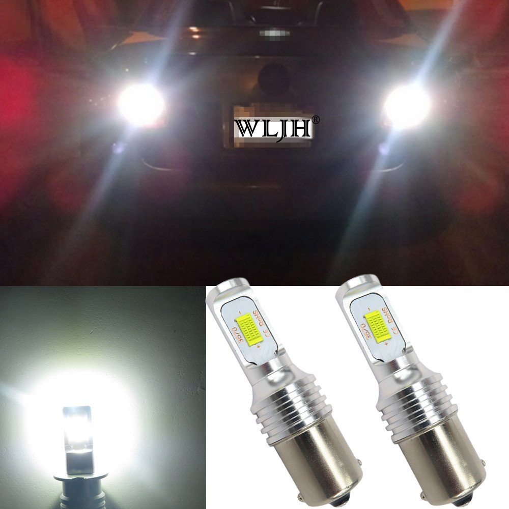 WLJH 2pcs PSX24W LED Fog Light Bulbs 72W High Power LED CSP Chipsets Extremely Bright 6500k White 2504 LED Bulb for Fog Light Lamps Daytime Running Light for Volkswagen Dodge Mini Cooper