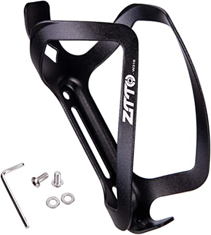 Cycling Bike Bicycle Adjustable Black Aluminum Alloy Water Bottle Holder Cages