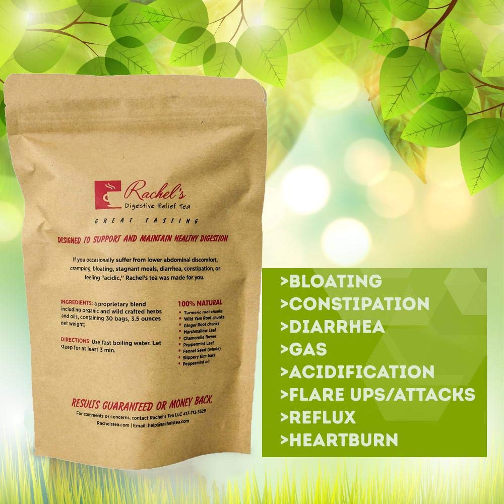 Rachel's Digestive Relief Tea diverticulitis colitis Crohn's specialty tea soothing digestion with 100 billion probiotic count intestinal flora build strengthen by Rachel's Tea (Image #2)