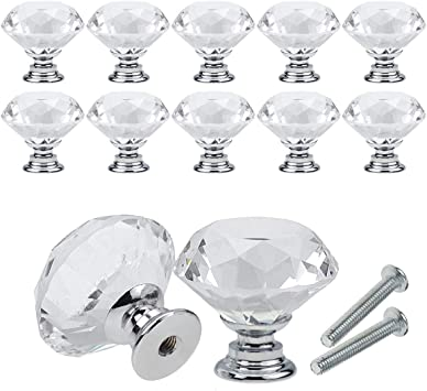 Diamond crystal knob cabinet drawer pull kitchen cabinet door wardrobe handle