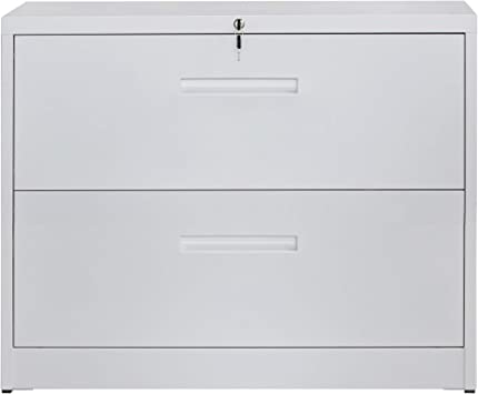 Amazon Com 2 Drawers Lateral File Cabinet With Lock Locking Metal Lateral Filing Cabinet For Home And Office Kitchen Dining