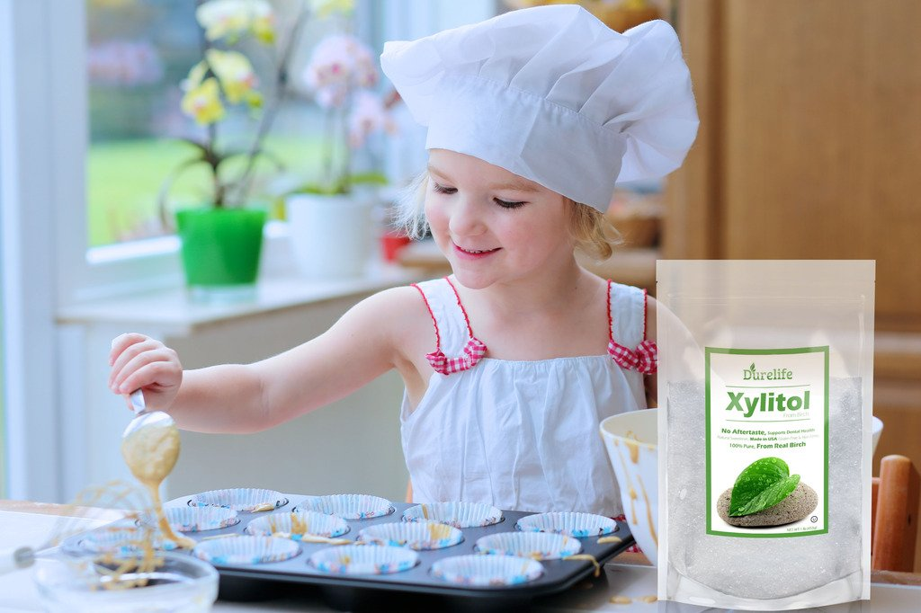 DureLife Birch XYLITOL Sugar Substitute 1 LB (16 OZ) Made From 100 % Pure Birch Xylitol In The USA , NON GMO - Gluten Free - Kosher , Packaged In A Resealable zipper lock Stand Up Pouch Bag by DureLife (Image #6)