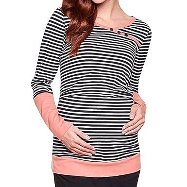 Maternidad Camiseta Mangas Largas para Mujer, Mujeres de Manga ...