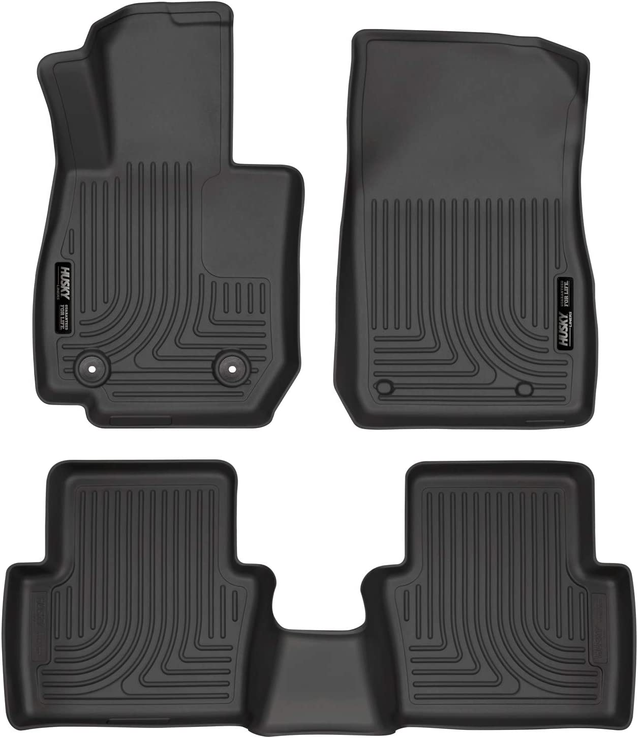 Passenger /& Rear Floor Mats Custom-Fit for BMW 7 Series ACTIVEHYBRID 2018-2019 GGBAILEY Charcoal Driver