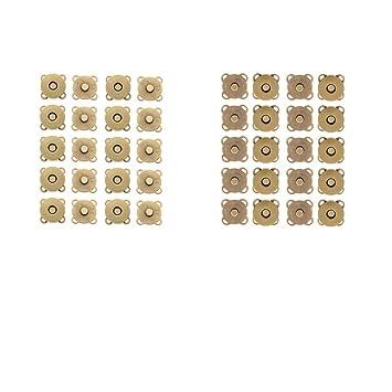 F Fityle 20 Sets Magnetkn/öpfe magnetische Taschenverschl/üsse zum Ann/ähen