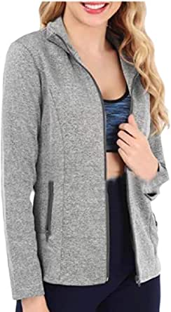 Womens Autumn Casual Outdoor Zipper Stand Collar Sport Coat Sweatshirt Jacket Outwears