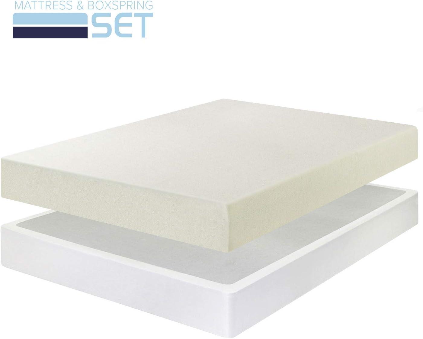 6 Memory Foam Mattress New Innovative Box Spring Set Full Size
