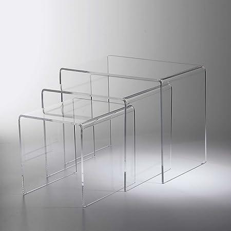 Tavolini Da Salotto Plexiglass.Vesta Tavolini Da Salotto In Plexiglass Set 3pz In Plexiglass