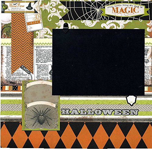 Every Little Thing She Does Is Magic - Premade Halloween Scrapbook -