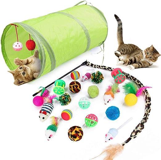 Juguetes para Gatos Interactivos, Mascota Gato Captura Juguetes De Entrenamiento, 21 Piezas: Amazon.es: Productos para mascotas