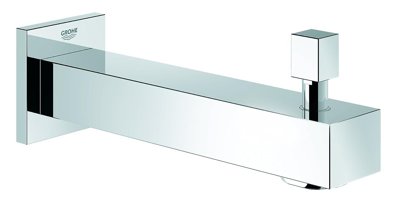 Grohe 13304000 - Essentials Cube, Bocca vasca con deviatore, colore: Argento
