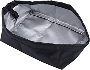 420D Oxford Cloth Fryer Dust Cover Deep Fryer Bikini Cover Frying Machine Outer Protective Cover for Home Use 20x15x8cm(Black)