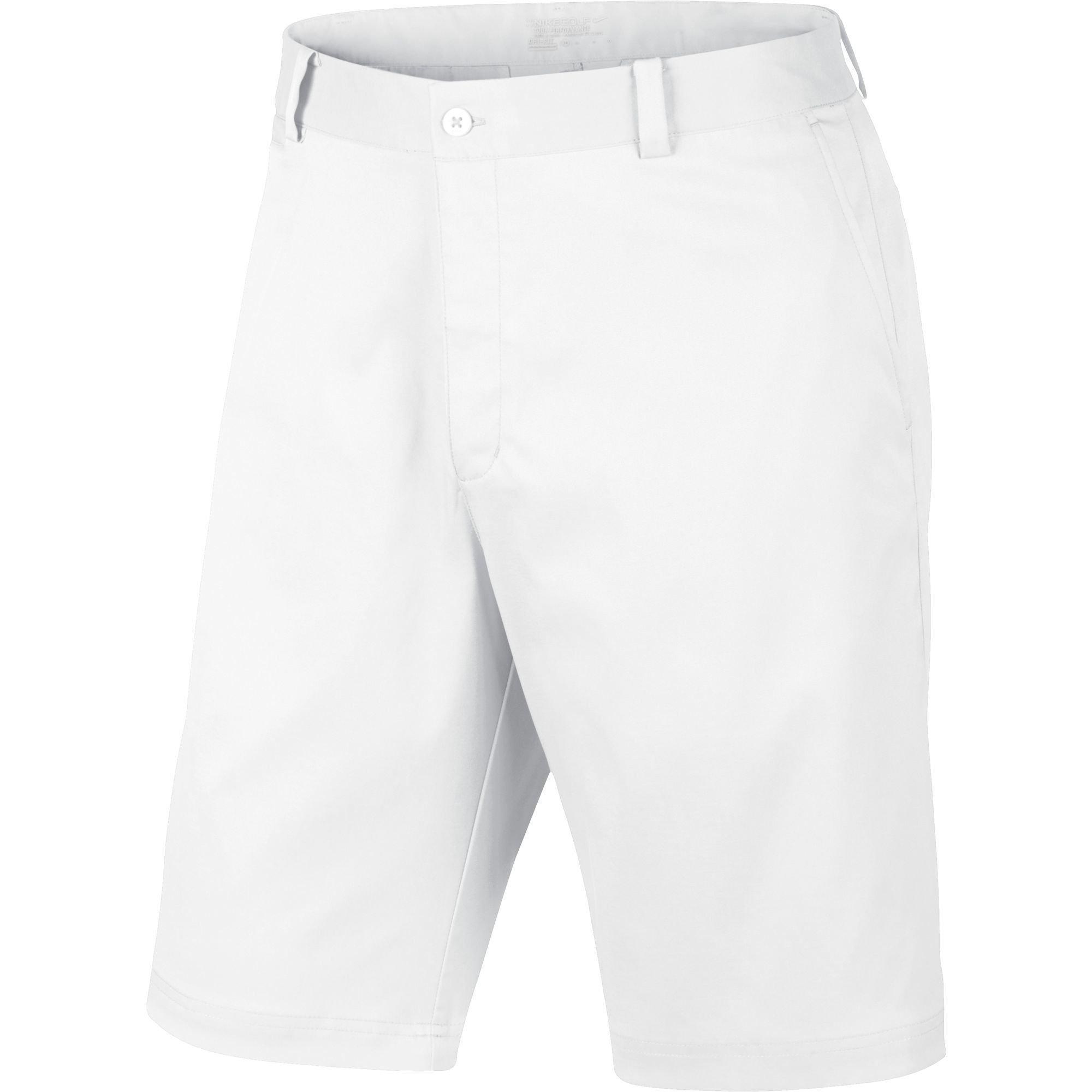 NIKE Men's 11'' Dri Fit Flat Front Golf Shorts, White, 34 Waist, 639798 100