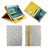Emartbuy Universal 10-11 inch Light Bulbs Multi Angle Folio Wallet Case Cover Card Slots Yellow Elastic Strap Stylus Pen Suitable Selected Devices Listed Below