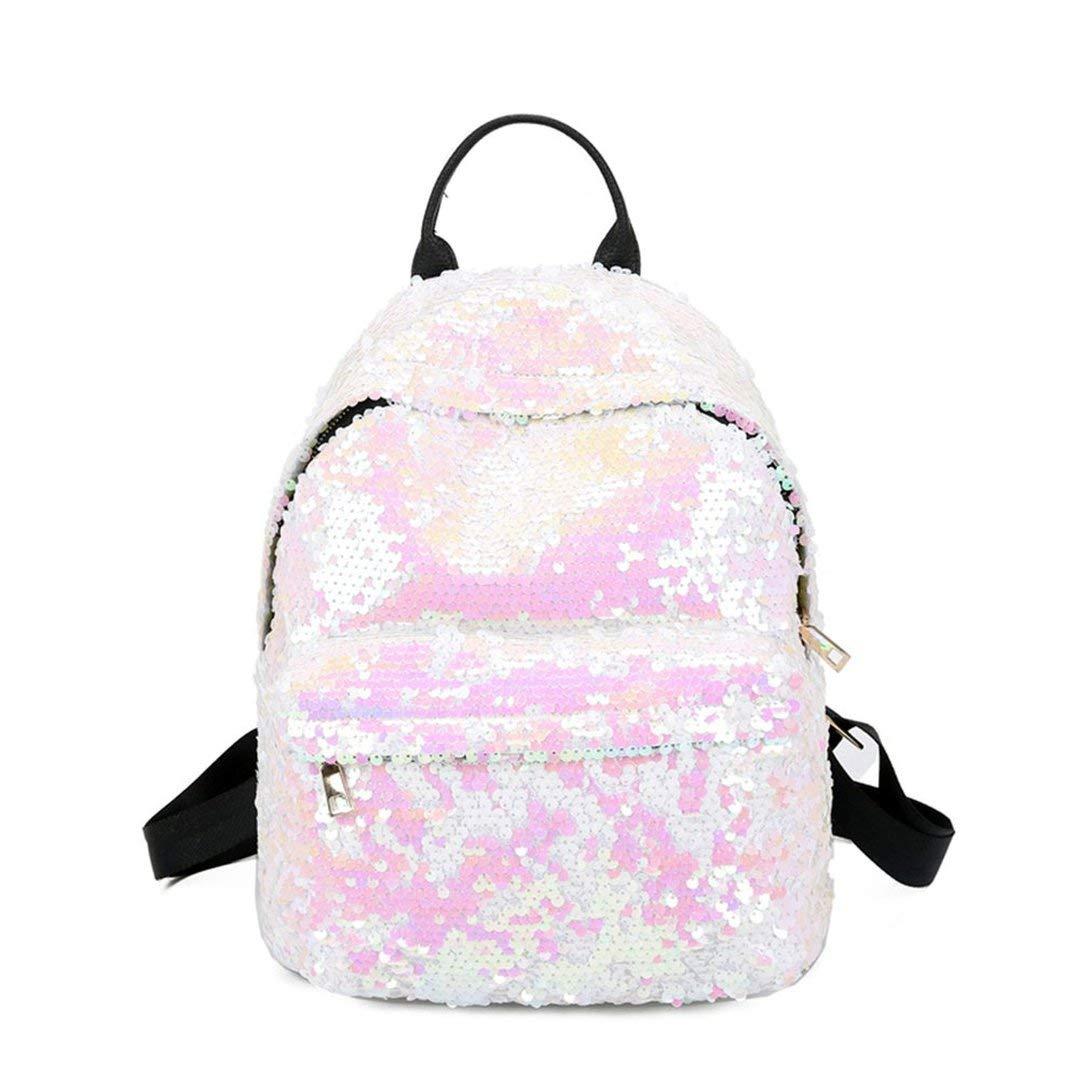 Tivolii Women Girl Sequins Backpack Small Leather Shoulder Bag Travel Daypack