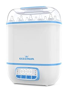 Eccomum Baby Bottle ???????????????????????????????????????? and Dryer, LED Touch Screen, 360° Steam ???????????????????????????????????????????????? & Drying, Super Large Capacity, HEPA Filter, Homemade Dried Fruit