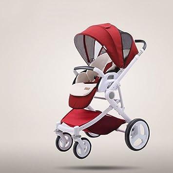 El Paisaje Alto del Carro De Bebé Puede Sentarse Carro Bidireccional De Los Niños Carro Plegable Ligero,Red: Amazon.es: Jardín