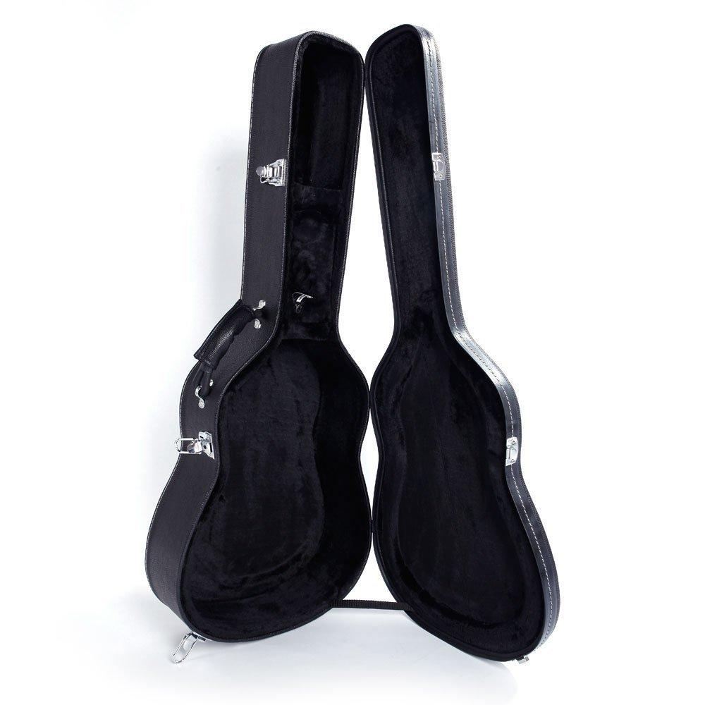 39'' Classical Guitar Hard Case Microgroove Flat Black