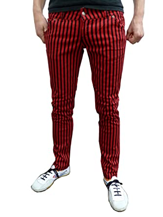 Mens and Womens Skinny Jeans Drainpipe Striped Mod Indie Trousers ...
