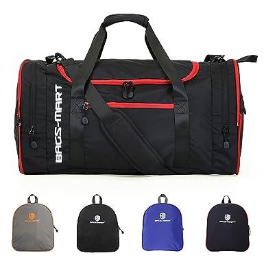 Amazon.com | BAGSMART Foldable Duffel Overnight Bag Travel Weekend ...