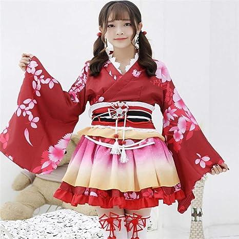 HYL0 Sexy Chicas Aman Animado Cosplay Vivo Traje Japonés Kimono ...