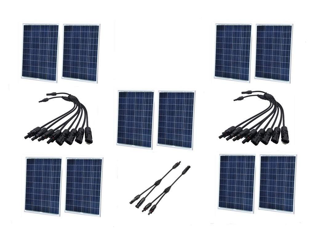 【楽天ランキング1位】 SAYA 100W 18V 100W ソーラーパネル 10枚 SAYA コネクター付属 18V B07GXRDXFT, ハナミガワク:dbf40862 --- itourtk.ru