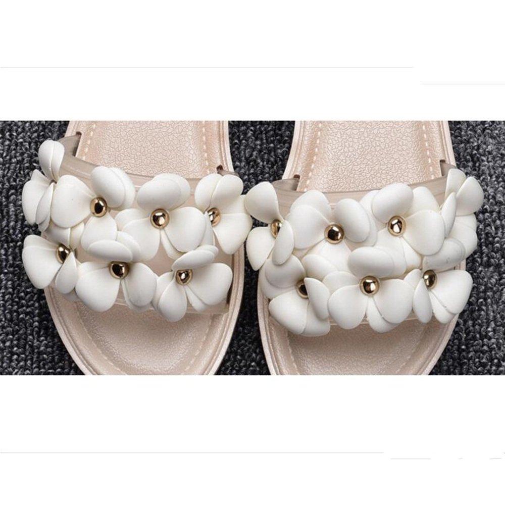 LIXIONG Tragbar Mode Damen Pantoffeln Strand Hausschuhe Anti-Rutsch Flache Pantoffeln Innen-und Outdoor-Sandalen (18-40 Jahre Alt) Modeschuhe ( Farbe : 1003 , größe : EU39/UK6/CN39 )
