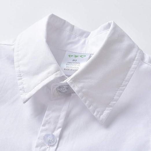 Baiomawzh Ropa Bebe Niño Verano 1a 2 3 4 5 Camisa Color Sólido ...