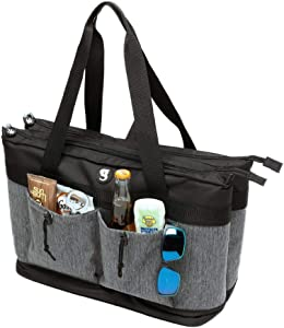 geckobrands 2 Compartment Tote Cooler – Holds Up to 40 Cans or 24 Bottles, Available in 6 Colors