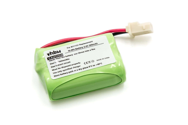 vhbw Batería NiMH 300mAh (2.4V) para babyphone, monitor de bebés Motorola Babyphone MBP16, MBP16/2 como BY1131. VHBW4251358590002