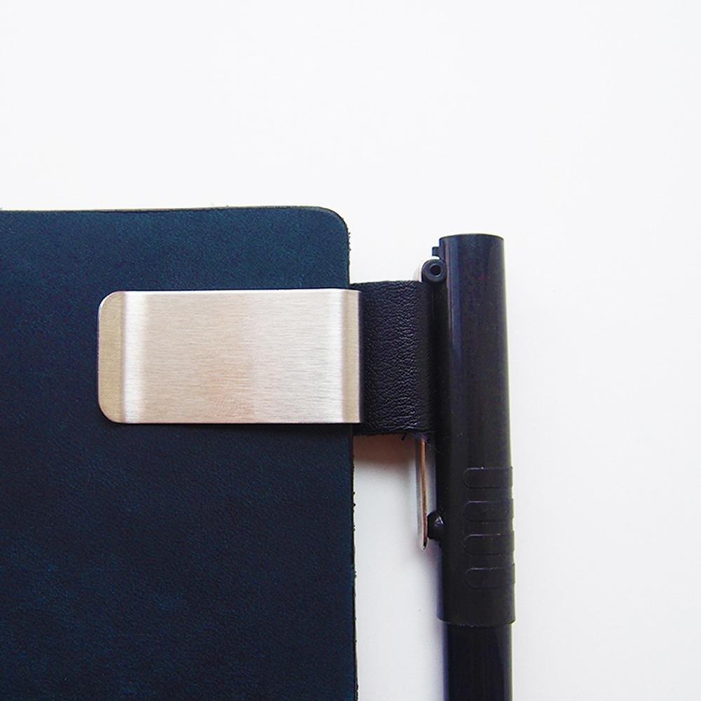Lederner Bleistift Halter Edelstahl Klipp für Zeitschriften, Planer ...