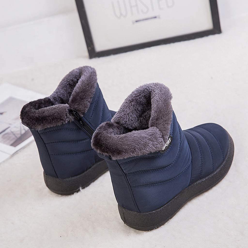 Miuye yuren Winter Snow Boots Womens Waterproof Insulated Snow Boot Girls Fur Lined Warm Ankle Booties Casual Shoes