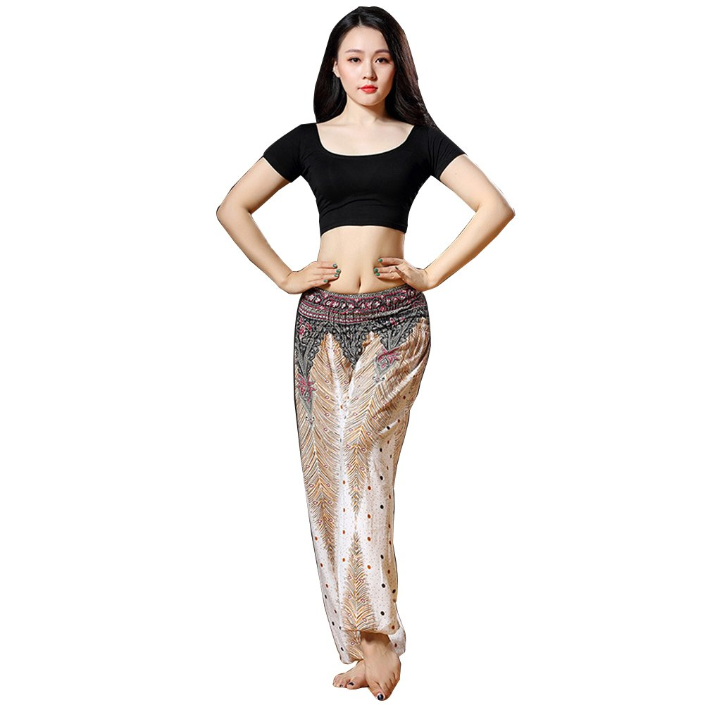 Noir Q-JIU Belly Dance Lady Vêtements Modal Shirt Set XL