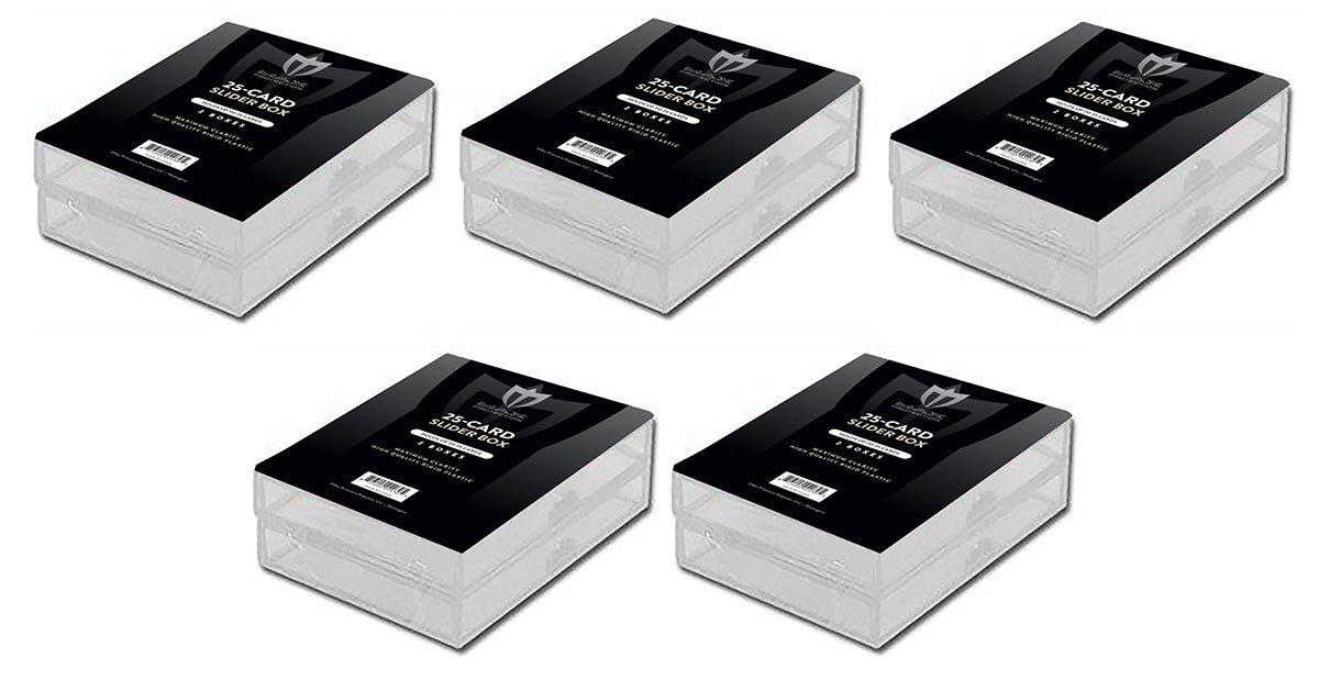 Lot of 10 Max Pro 2 Pieceスライダボックス – 25カウント1つサイズ – 野球、サッカー、バスケットボール、ホッケー、ゴルフ、スポーツカードトップロード – Sportcardsカード収集装置 B01MRMG7Q8