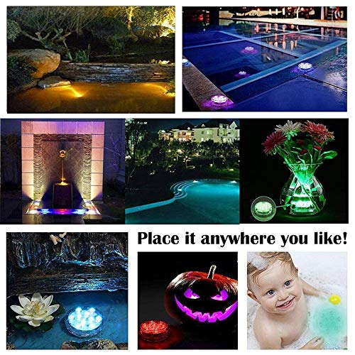 Hot tube 4 Piece Waterproof Underwater Led Lights with remote for Swimming Pool
