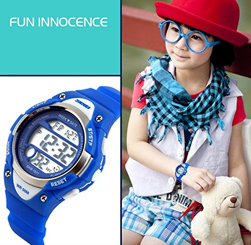 Boys Girls Multifunction Fashion Digital LED Sports Wrist Watch 50M Water Resistant Silicone Student Kids by OWIKAR (Image #6)