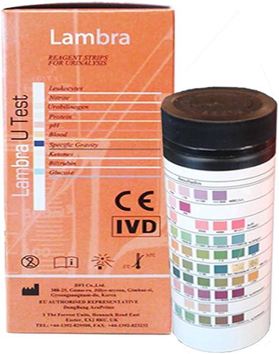 Tiras reactivas de orina de 10 Parámetros: Leucocitos ...